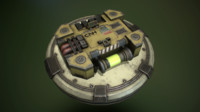 biological container pbr 3d model