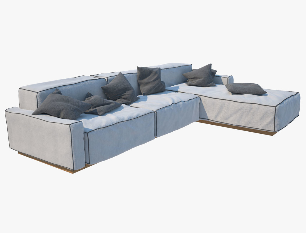 sofa modern realistic max
