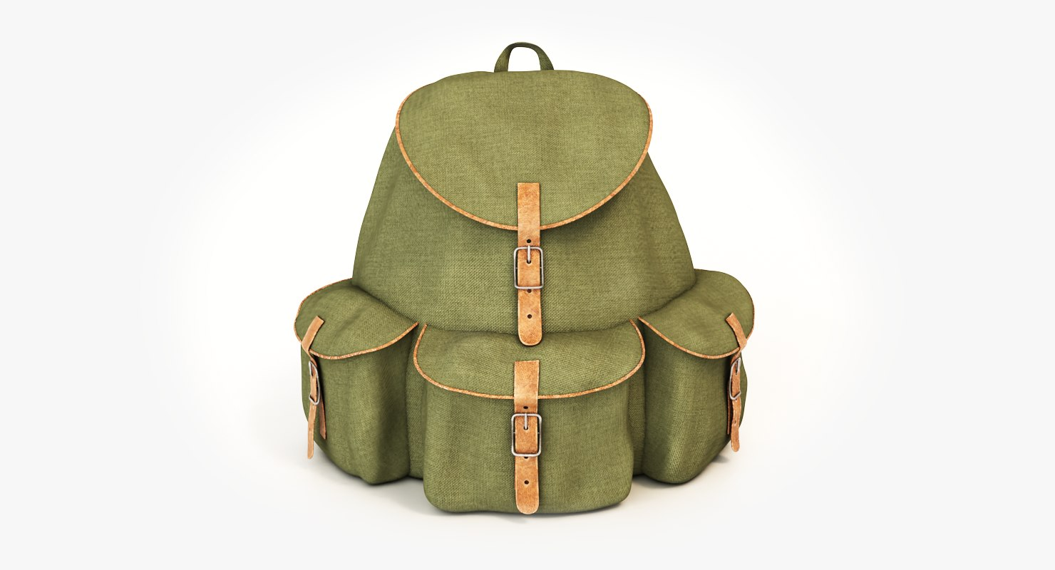 old backpack 3d max