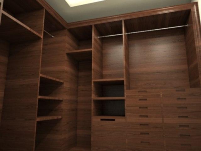 3d model dress closet