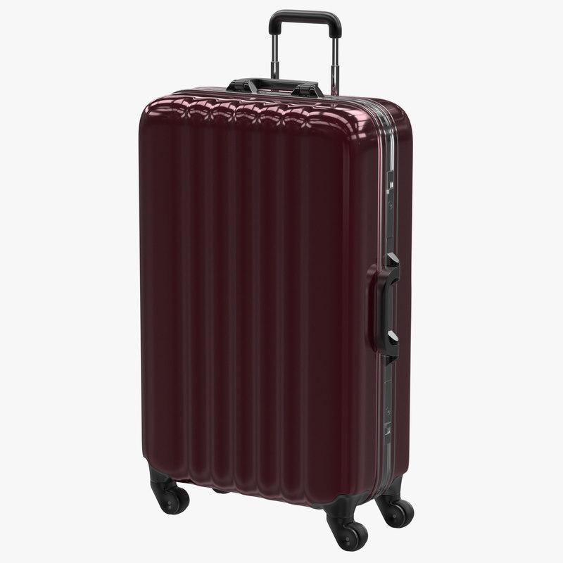 rolling suitcase obj
