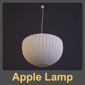 3d model george nelson lamp apple