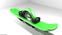 hoverboard hover 3d 3ds