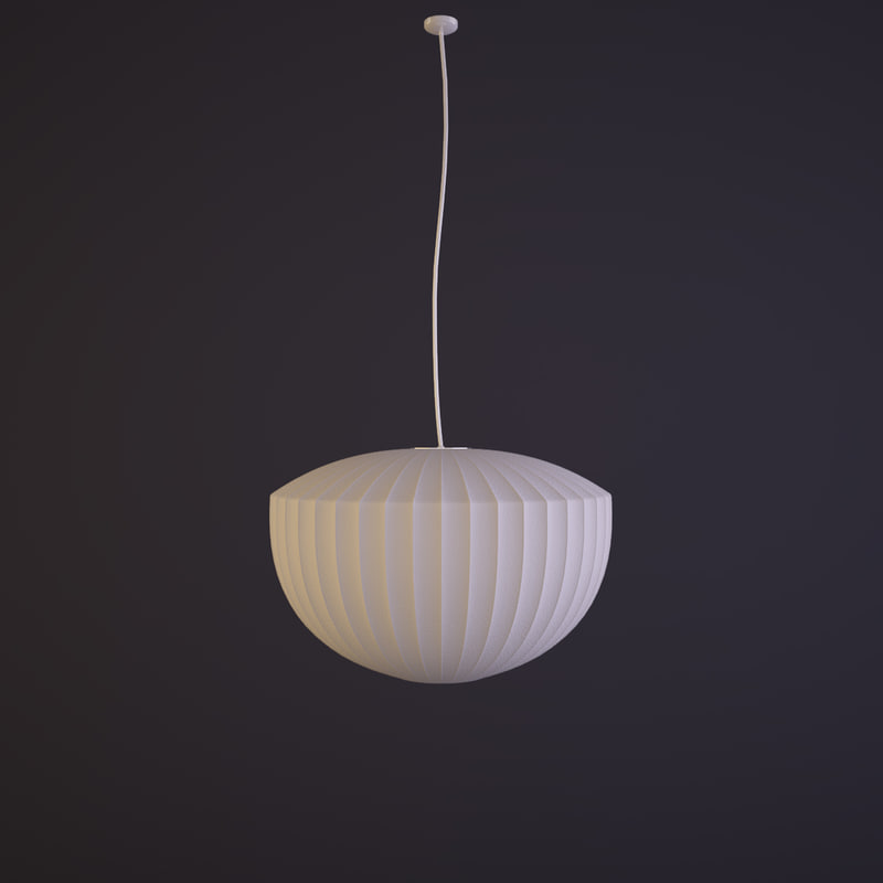 3d model george nelson lamp apple aloadofball Image collections