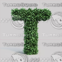 alphabet t buxus 3d max