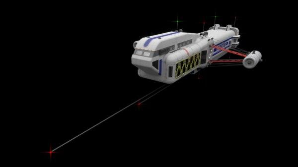 passanger freighter 3d 3ds