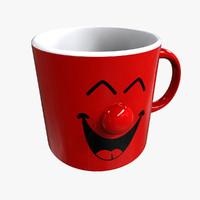 3d mug happy