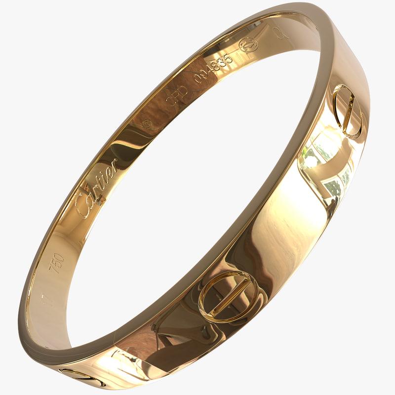 bracelet gold 3d model