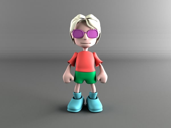 cool little boy obj
