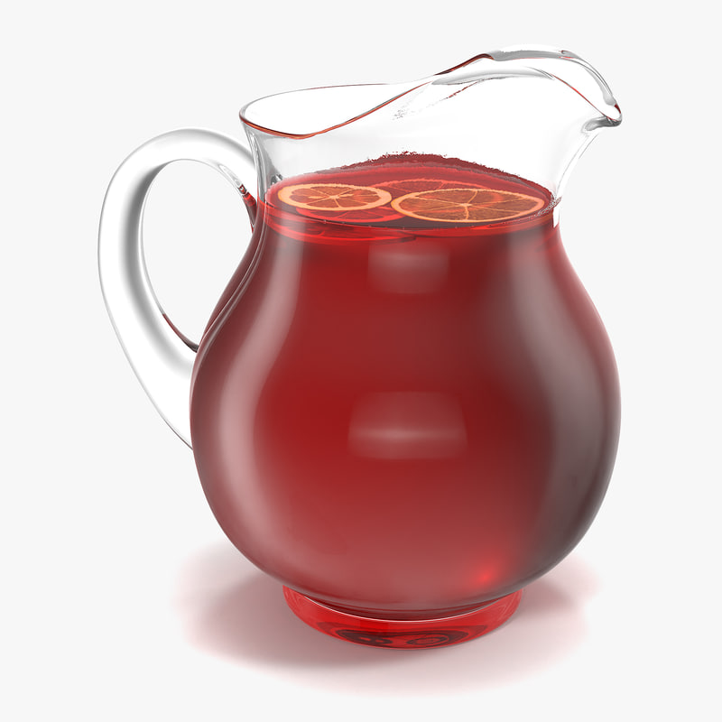 3d model of fruit punch pitcher
