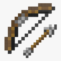 3ds minecraft bow arrow