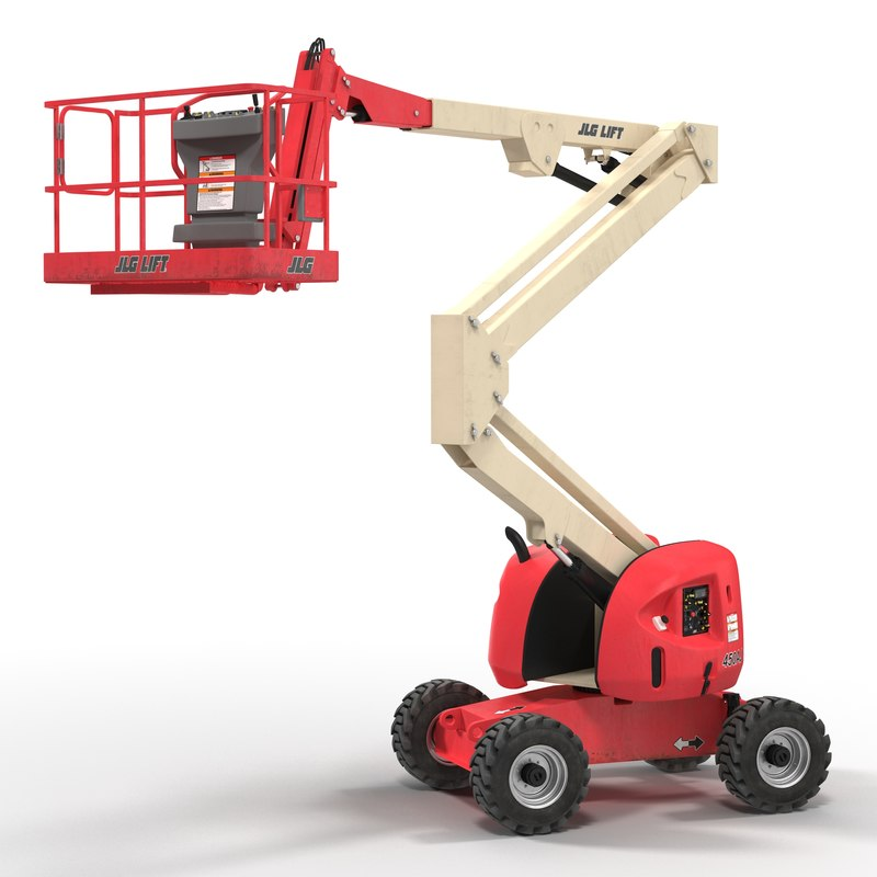 3d model telescopic boom lift jlg