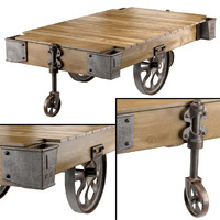 factory cart coffee table max