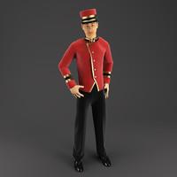 3d doorman porter model