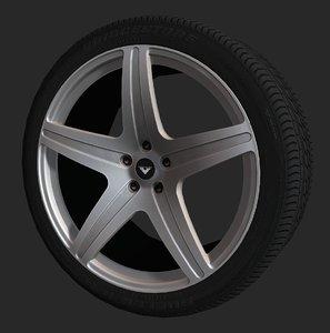 vorsteiner vs-170 wheel tire 3d model