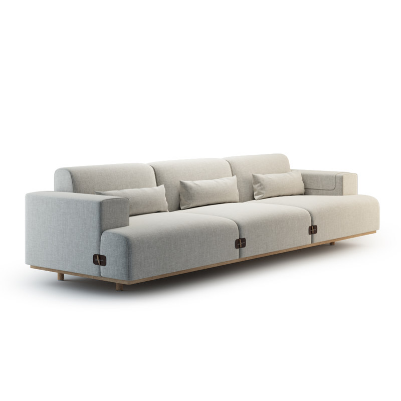 3d duffle sofa bosc model