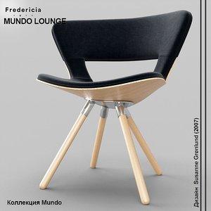 3d model fredericia furniture mundo