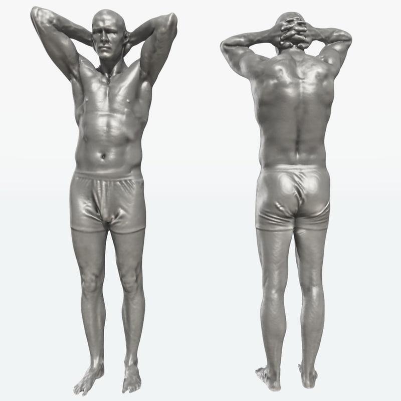 scan man standing 3d model