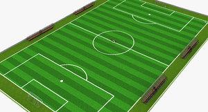 3d football field soccer