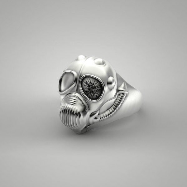 steampunk ring 3d obj