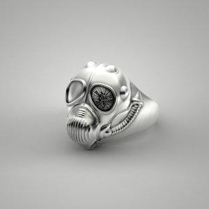 steampunk ring 3d obj