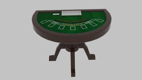 3d model black jack table