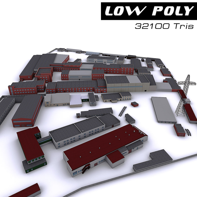 Industrial Site 3d Model