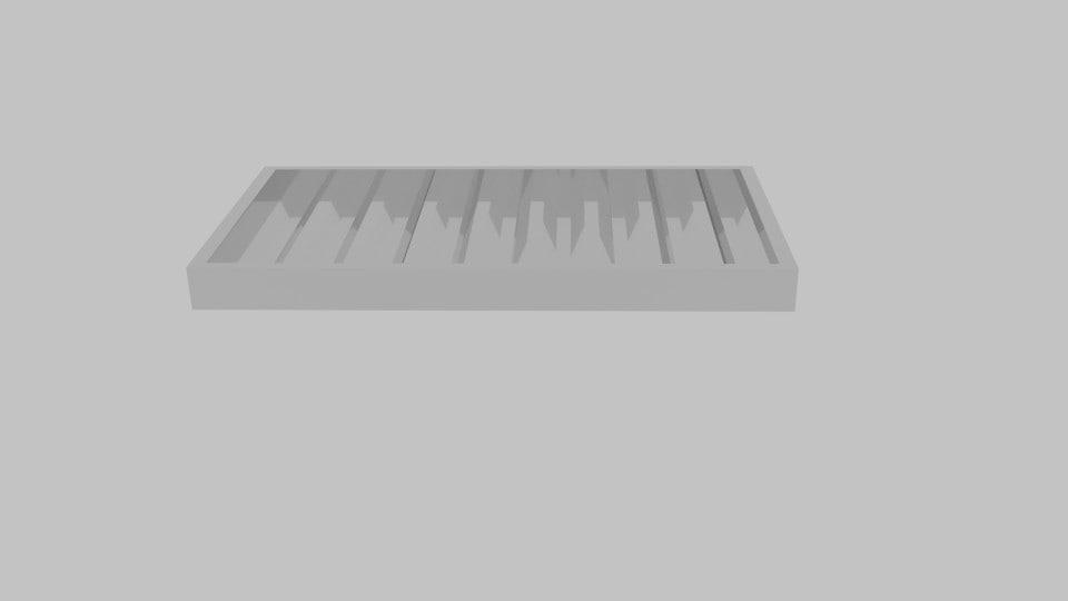3d poker chip case model