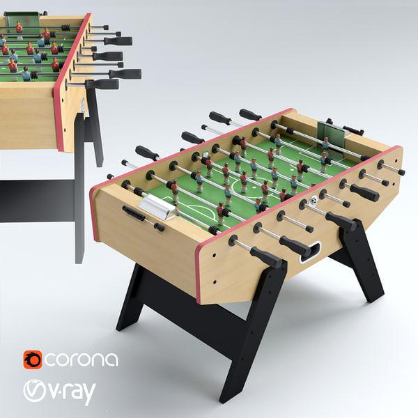 3d model football table soccer