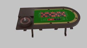 table roulette 3d model