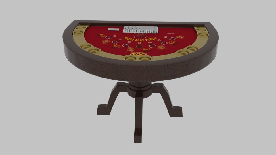 card table 3d model