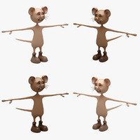 cartoon mouse rigged max