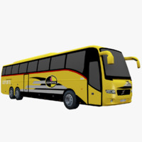 Volvo 9700 Bus Low Poly