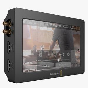 3d model blackmagic video assist