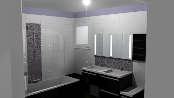 3d salle bain bathroom model