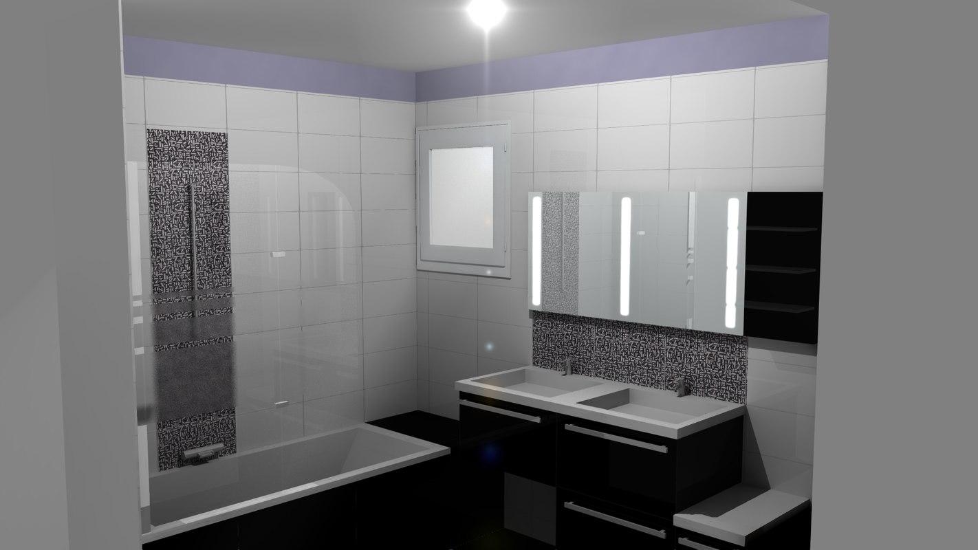 3d salle bain bathroom model
