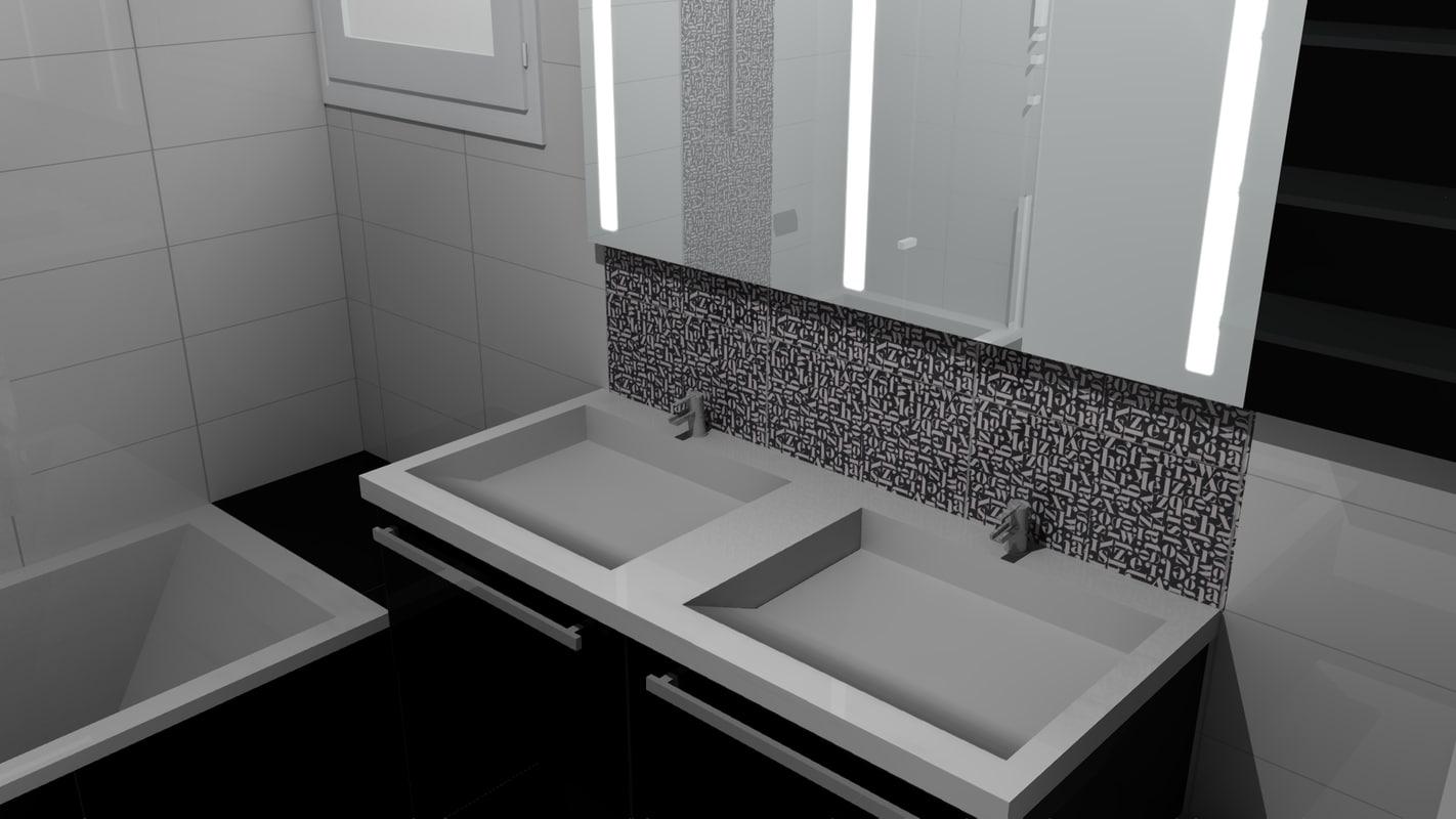 Salle De Bain Washroom ~ 3d salle bain bathroom model