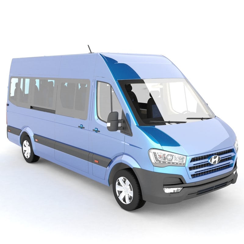 3d model hyundai h350 bus
