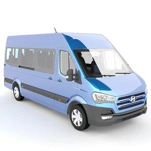 3d model hyundai h350 bus
