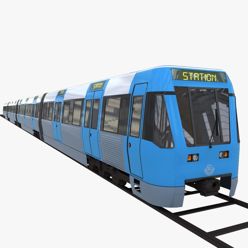 3d metro subway train model