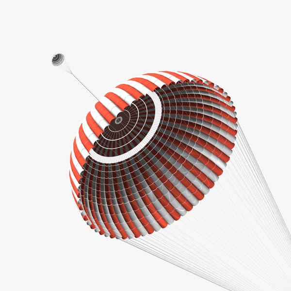 main ringsail parachute 3d model