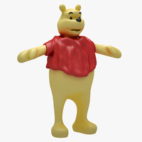 Winnie The Pooh (RIGGED T-POSE)