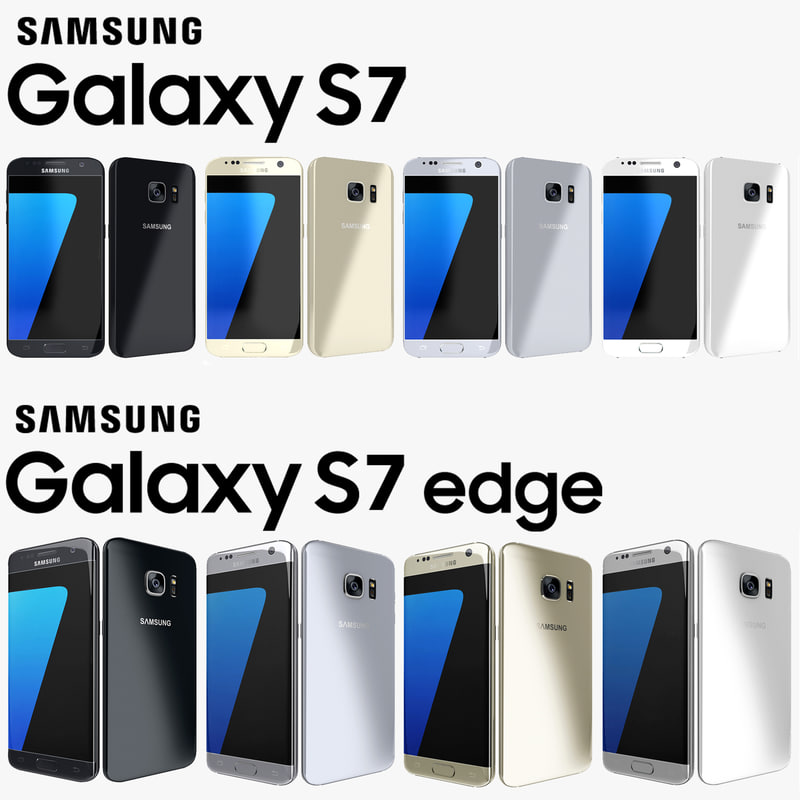 3d model of samsung galaxy s7 edge