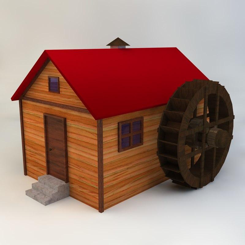 watermill house 3d model
