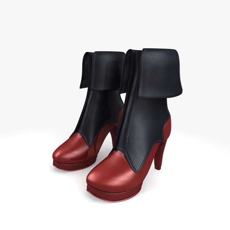 boots 3d obj