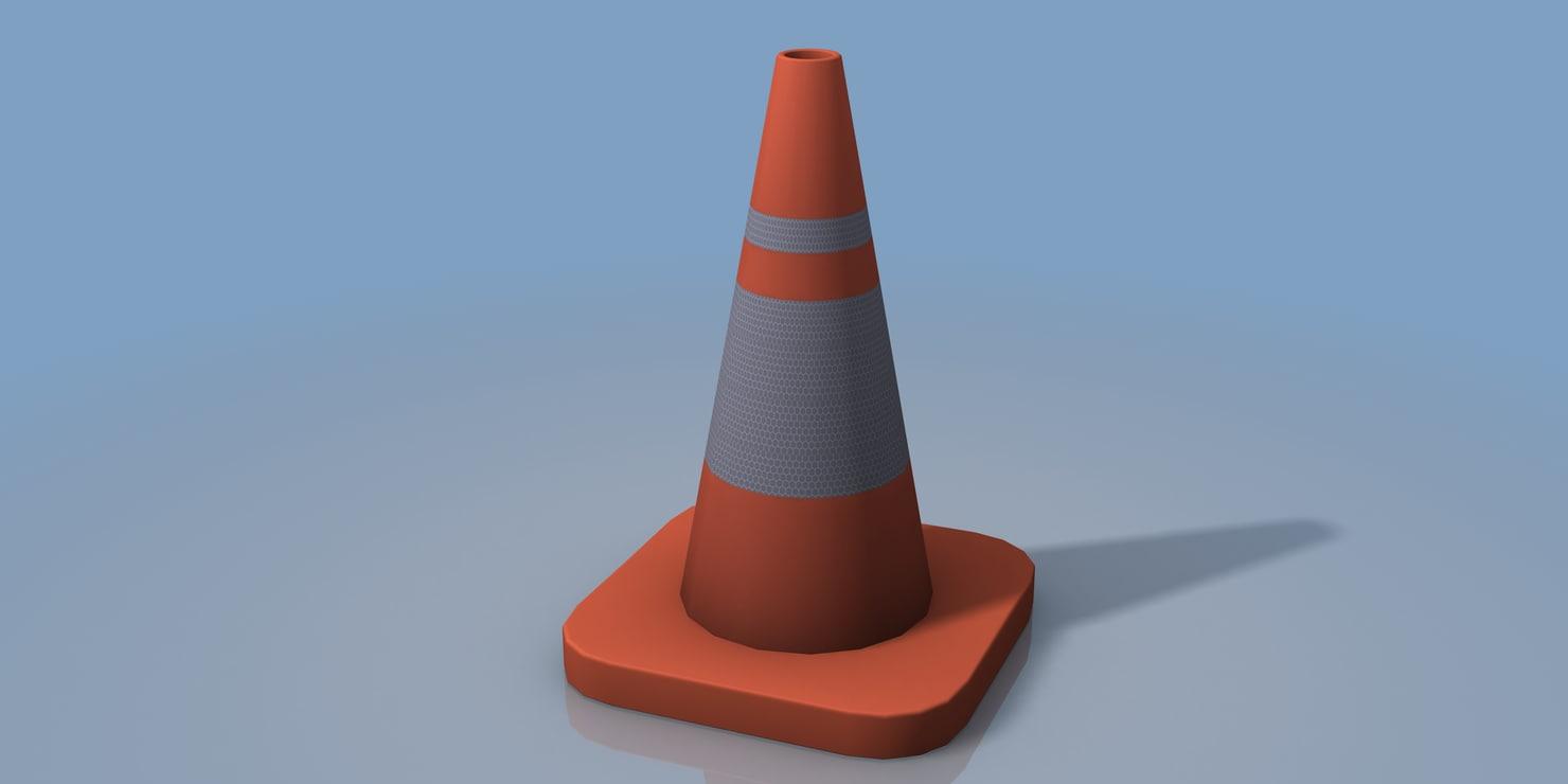 traffic street cone 3d max