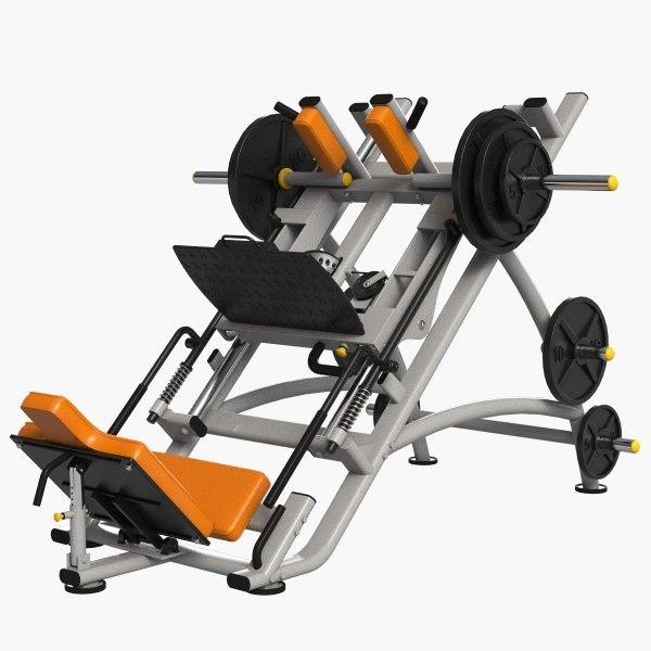 gym equipment leg press 3d max