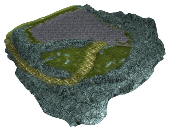 terrain painted 3d model