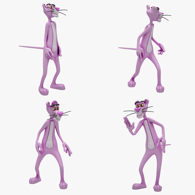 3d pink panther 4 model