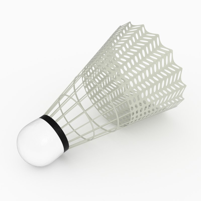 shuttlecock rendered blender 3d 3ds